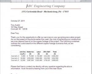 Penn foster 038211 -  Letter Snapshot
